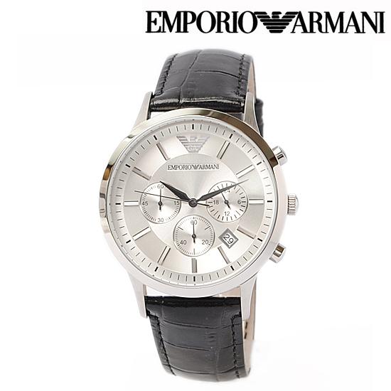 pretty nice 495e6 3cb13 EMPORIO ARMANI エンポリオ アルマーニ メンズ腕時計 (Classic) クノログラフ ブラック AR2432【新品】【送料無料】