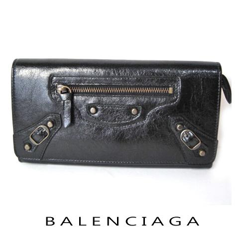 バレンシアガ バレンシアガ ファスナー付長財布 163471 ブラック新品
