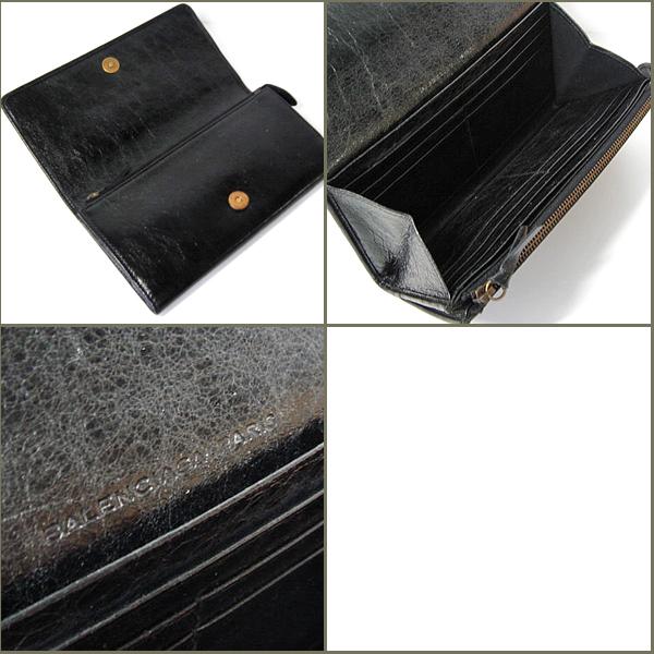バレンシアガ バレンシアガ ファスナー付長財布 163471 ブラック 新品