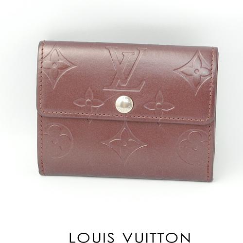 廃盤品 ルイヴィトン モノグラム・マット 折財布 バイオレット M65116  未使用
