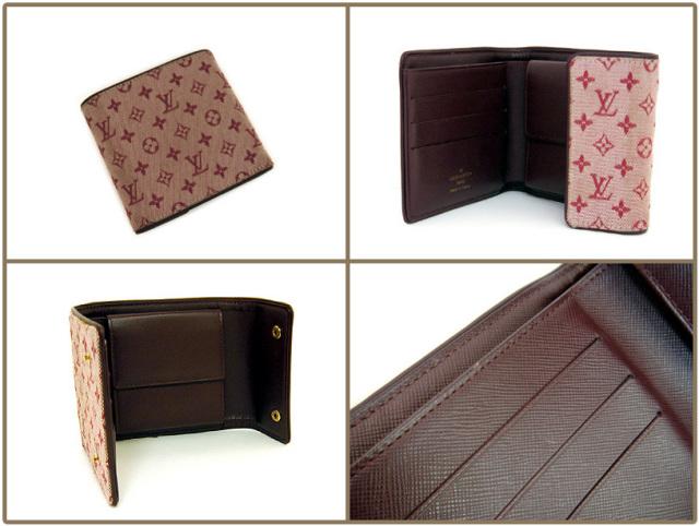 【送料無料】廃盤 モノグラムミニ 折り財布 チェリー M92241 中古AB
