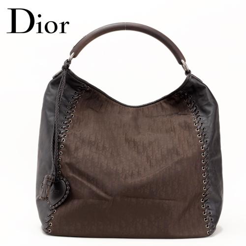 クリスチャン・ディオール Dior メッセンジャーバッグ ロゴ/ネイビー